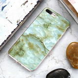 Green Pattern FLOVEME Marble Case For iPhone